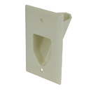 CableWholesale 45-0001-LA 1-Gang Recessed Low Voltage Cable Plate, Lite Almond