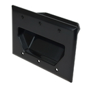 CableWholesale 45-0003-BK 3-Gang Recessed Low Voltage Cable Plate, Black