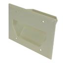CableWholesale 45-0003-LA 3-Gang Recessed Low Voltage Cable Plate, Lite Almond