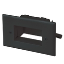 CableWholesale 45-0008-BK Easy Mount Recessed Low Voltage Cable Plate, Black