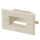 CableWholesale 45-0008-LA Easy Mount Recessed Low Voltage Cable Plate, Lite Almond