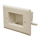 CableWholesale 45-0009-LA Easy Mount Recessed Low Voltage Cable Plate (Slim Fit), Lite Almond
