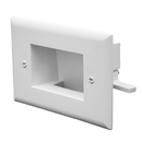 CableWholesale 45-0009-WH Easy Mount Recessed Low Voltage Cable Plate (Slim Fit) White