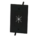 CableWholesale 45-0014-BK Cable Plate with Flexible Opening, 1-Gang, Black
