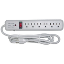 CableWholesale 51W1-01206 Surge Protector, 6 Outlet, Gray, Vertical Outlets, 3 MOV, 540 Joules, EMI / RFI, Power Cord 6 foot