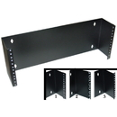 CableWholesale 68BP-1004U Rackmount Hinged Wall Mounting Bracket, 4U, Dimensions: 7 (H) x 19 (W) x 4 (D) inches