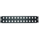 CableWholesale 68PB-01024 Rackmount 24 Port Blank Keystone Patch Panel, 2U