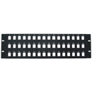 CableWholesale 68PB-02048 Rackmount 48 Port Blank Keystone Patch Panel, 3U