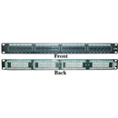 CableWholesale 68PP-03024 Rackmount 24 Port Cat5e Patch Panel, Horizontal, 110 Type, 568A & 568B Compatible, 1U