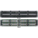 CableWholesale 68PP-03048 Rackmount 48 Port Cat5e Patch Panel, Horizontal, 110 Type, 568A & 568B Compatible, 2U