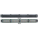 CableWholesale 69BK-06024 Rackmount 24 Port Cat6 Patch Panel, Horizontal, 110 Type, 568A & 568B Compatible, 1U