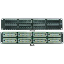 CableWholesale 69BK-06048 Rackmount 48 Port Cat6 Patch Panel, Horizontal, 110 Type, 568A & 568B Compatible, 2U