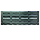 CableWholesale 69BK-06096 Rackmount 96 Port Cat6 Patch Panel, Horizontal, 110 Type, 568A & 568B Compatible, 4U