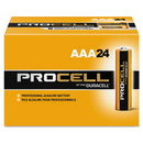 CableWholesale 9081-01024 Duracell Procell Industrial Grade Alkaline Batteries, AAA, PC2400BKD, 24/Box