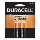 CableWholesale 9082-02002 Duracell CopperTop Alkaline Batteries, AA, MN1500B2Z, 2/PK