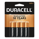 CableWholesale 9082-02004 Duracell CopperTop Alkaline Batteries, AA, MN1500B4Z, 4/PK