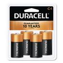 CableWholesale 9082-03004 Duracell CopperTop Alkaline Batteries, C, MN1400R4ZX17, 4/PK