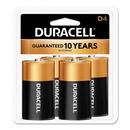 CableWholesale 9082-04004 Duracell CopperTop Alkaline Batteries, D, MN1300R4Z, 4/PK