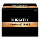 CableWholesale 9082-04012 Duracell CopperTop Alkaline Batteries, D, MN1300, 12/PK
