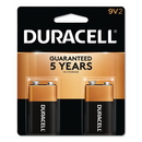 CableWholesale 9082-05002 Duracell CopperTop Alkaline Batteries, 9V, MN1604B2Z, 2/pk