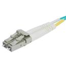 CableWholesale LCLC-41025 10 Gigabit Aqua OM4 Fiber Optic Cable, LC / LC, Multimode, Duplex, 50/125, 25 Meter
