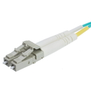CableWholesale LCLC-41030 10 Gigabit Aqua OM4 Fiber Optic Cable, LC / LC, Multimode, Duplex, 50/125, 30 Meter