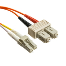 CableWholesale LCSC-11001 Fiber Optic Cable, LC / SC, Multimode, Duplex, 50/125, 1 meter (3.3 foot)