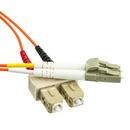 CableWholesale LCSC-11101 Fiber Optic Cable, LC / SC, Multimode, Duplex, 62.5/125, 1 meter (3.3 foot)