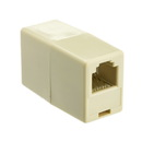 CableWholesale MC-6P6C-ST Inline Telephone Coupler (Data), RJ12, 6P / 6C