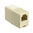 CableWholesale MC-6P6C-ST Inline Telephone Coupler (Data), RJ12, 6P / 6C