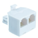 CableWholesale PA-6P6C-ST Phone Splitter (Straight), RJ11/RJ12 Male to RJ11/RJ12 Female