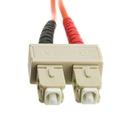 CableWholesale SCSC-11002 Fiber Optic Cable, SC / SC, Multimode, Duplex, 50/125, 2 meter (6.6 foot)