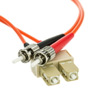 CableWholesale SCST-11102 Fiber Optic Cable, SC / ST, Multimode, Duplex, 62.5/125, 2 meter (6.6 foot)