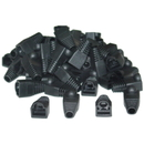 CableWholesale SR-8P8C-BK RJ45 Strain Relief Boots, Black, 50 Pieces Per Bag