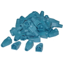 CableWholesale SR-8P8C-BL RJ45 Strain Relief Boots, Blue, 50 Pieces Per Bag