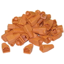 CableWholesale SR-8P8C-OR RJ45 Strain Relief Boots, Orange, 50 Pieces Per Bag