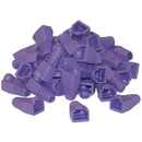 CableWholesale SR-8P8C-PU RJ45 Strain Relief Boots, Purple, 50 Pieces Per Bag