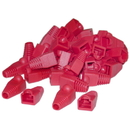 CableWholesale SR-8P8C-RD RJ45 Strain Relief Boots, Red, 50 Pieces Per Bag