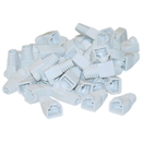 CableWholesale SR-8P8C-WH RJ45 Strain Relief Boots, White, 50 Pieces Per Bag