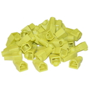 CableWholesale SR-8P8C-YL RJ45 Strain Relief Boots, Yellow, 50 Pieces Per Bag