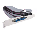 CableWholesale WS25-0020F Motherboard Parallel Port to Slot Cover Cable, IDC 26 to DB25 Female 18 inch