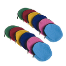 Aspire 60-Pack Round Zipper Pouches DIY Round Canvas Coin Purses