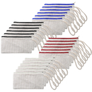 Aspire 24-Pack 100% Cotton Canvas Wristlet Bags 7 3/4 x 4 Inches Pencil Pouches
