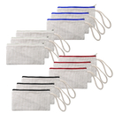 Aspire 12-Pack 100% Cotton Canvas Zipper Pouches, Blank Wristlet Purses 7 3/4