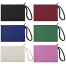 Aspire 60-Pack 100% Cotton Canvas Zipper Pouches Party Favor Bags 6 3/4