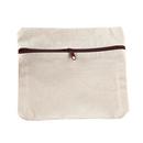 Aspire 12 Pieces DIY Cotton Canvas Zipper Pouch, 6 11/16 x 5 7/8 Inch Storage Bag