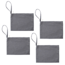 Aspire 4-Pack 100% Wristlet Cotton Canvas Zipper Bag 11