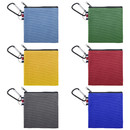 Aspire 6-Pack Cute Coin Pouches with Carabiner Cotton Canvas Bag 4-1/4 Inches