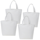 Aspire 4-Pack DIY Canvas Tote Bags, Bottom Gusset Canvas Lunch Bags