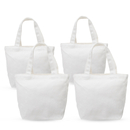 Aspire 4-Pack DIY Canvas Tote Bags, Bottom Gusset 100% Cotton 12oz Canvas Lunch Bag